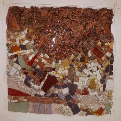 Mosaique création Ce qu'il reste du fruit