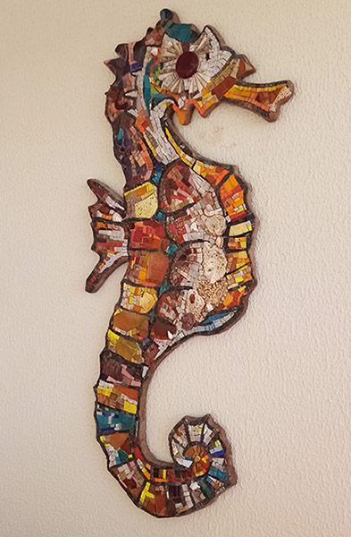 Hippocampus commande privée mosaique création vente décoration