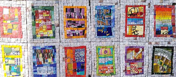 Variations Rectangulaires Narbonne commande privée mosaique création vente décoration