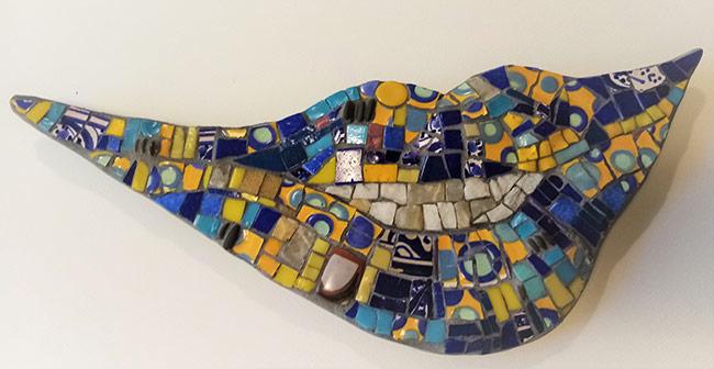 buso bleue mosaique création vente décoration