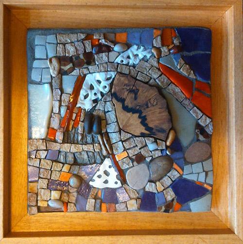 dentelles II mosaique création à la vente