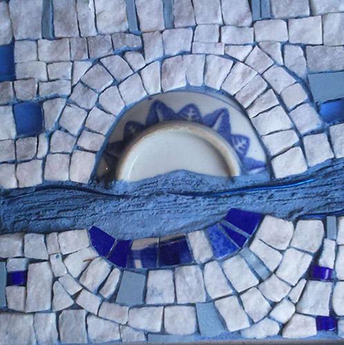 serie bleues 2 mosaique création vente décoration