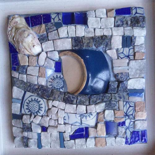 serie bleues mosaique création vente décoration