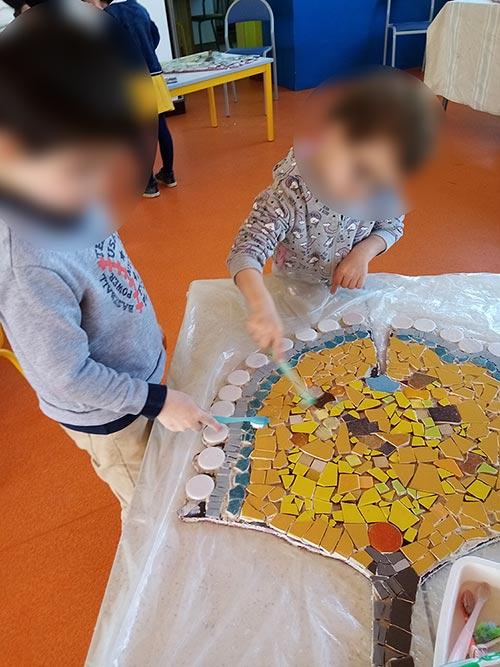 fabrication Mosaique Enfant Maternelle