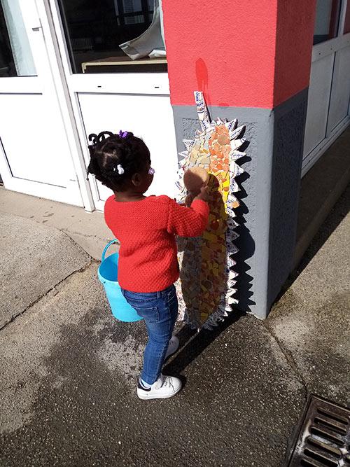 Fabrication Mosaique Enfant Maternelle Nettoyage