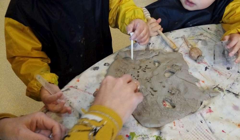 Atelier terre RAM enfants création